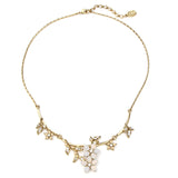 Crystal Floral Pendant Necklace - Ben-Amun
