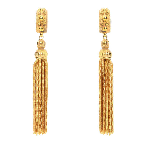 Classic Gold Tassel Earrings
