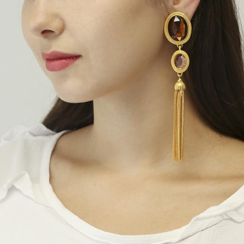 Candy Gold Tassel Earrings - Ben-Amun