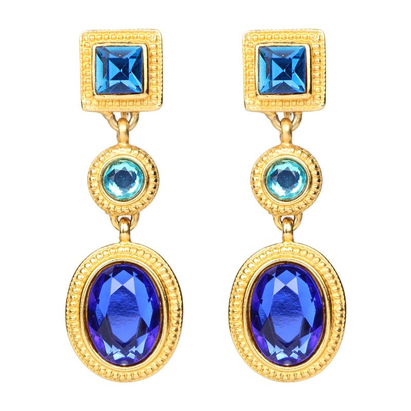 Candy Deep Blue Drop Earrings - Ben-Amun
