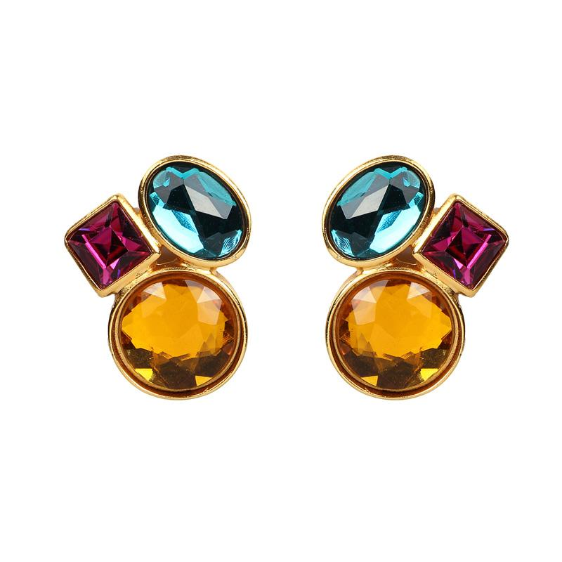 Candy Tri Color Earrings - Ben-Amun