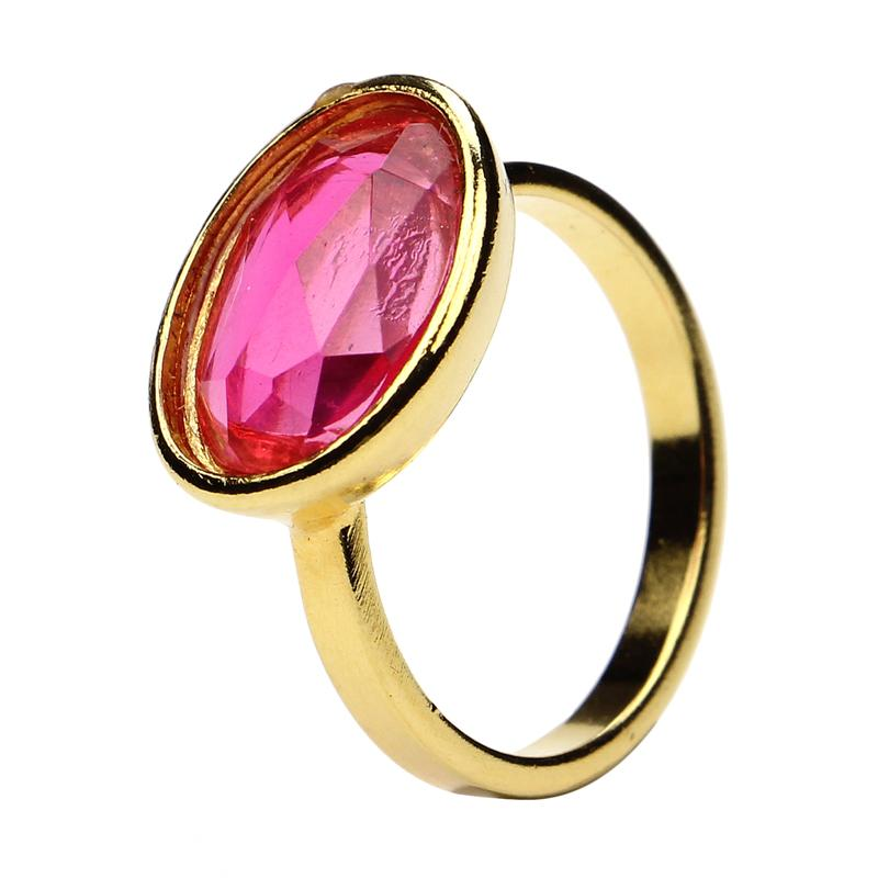 The Art of Layering Oval Hot Pink Ring | Ben-Amun Jewelry | Resin Jewelry | Gold Ring | Summer Accessories | Playful Jewelry | Fun Jewelry | Women's Rings | Biggest Jewelry Trends | Colorful Rings | Knuckle Rings | Summer Fashion | Accessory Trends
