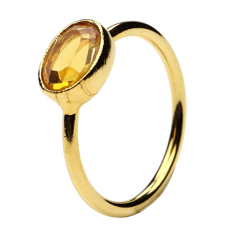 The Art of Layering Oval Orange Ring | Ben-Amun Jewelry