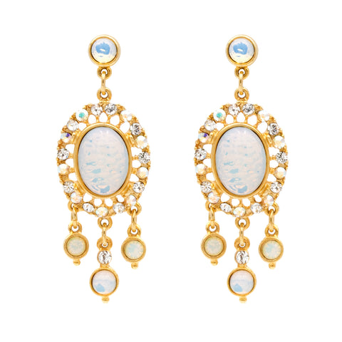 Helen of Troy Large Gold Statement Earrings - Ben-Amun