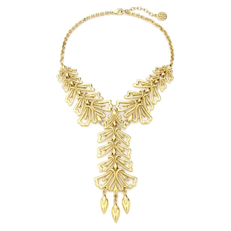Helen of Troy Gold Ornate Statement Necklace - Ben-Amun
