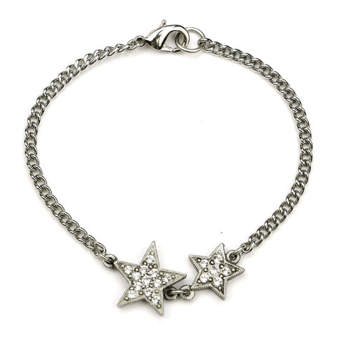 Rock Star Dual Crystal Chain Bracelet - Ben-Amun