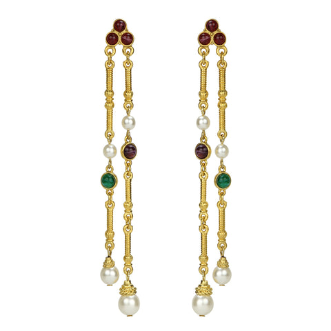 Romeo & Juliet Linear Drop Earrings
