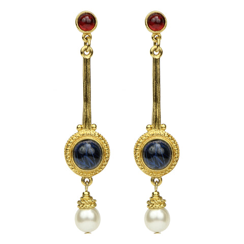 Romeo & Juliet Linear Pearl Earrings