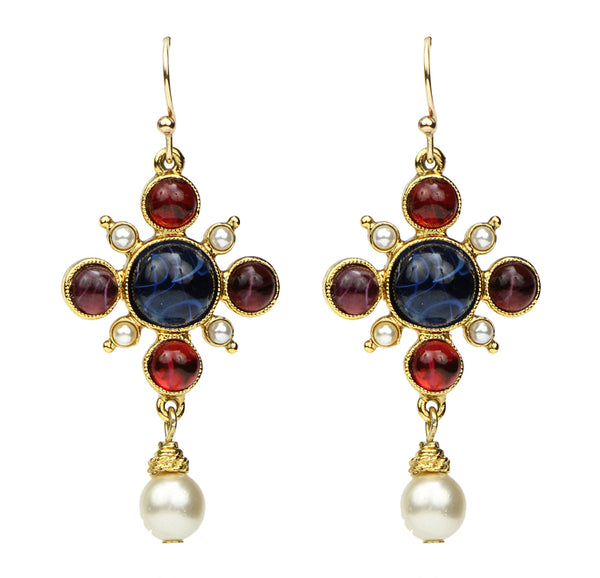 Romeo & Juliet Pearl Drop Earrings