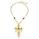 Romeo & Juliet Cross Pendant Necklace