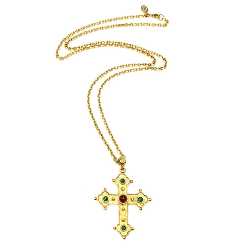 Romeo & Juliet Long Cross Necklace