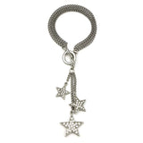 Rock Star Multi Chain Crystal Tassel Bracelet - Ben-Amun