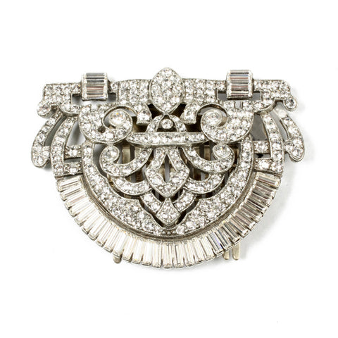 Large Crystal Hair Comb - Ben-Amun
