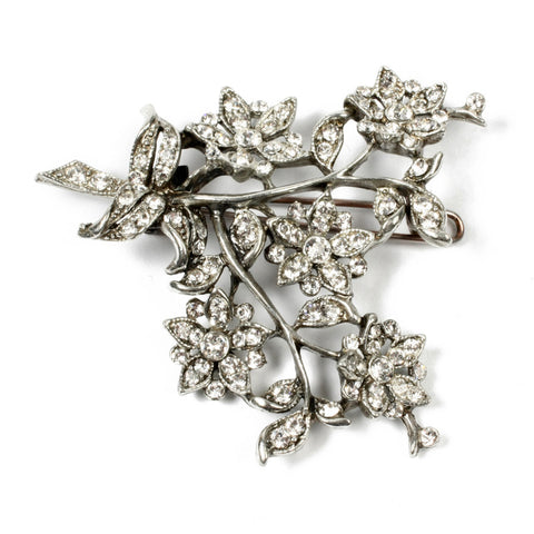 Crystal Floral Hair Pin - Ben-Amun