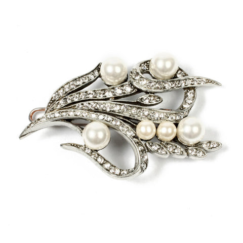 Pearl and Crystal Romantic Hair Pin - Ben-Amun