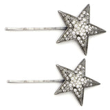Star Crystal Art Deco Hair Pins (Set of 2) | Ben-Amun | Star Pin | Star Hair Pin | Crystal Hair Pin | Hair Barrette | Hair Accessories | Swarovski | Vogue March 2018 | Mario Testino