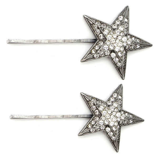 Star Crystal Art Deco Hair Pins | Ben-Amun Jewelry | Wedding Bridal Hair Accessories | Star Hair Pins | Rhinestone | Bridal Headpieces | Bridal Star Hair Pins | Silver Star Hair Clips | Star of David Hair Pins | Small Star Hair Pins | Rhinestone Star Hair Pins | Star Hair Clips | Star Style Hair Star Hair Clip | Star Hair Barrettes | Star Hair Accessories | Star Hair Accessories Wedding