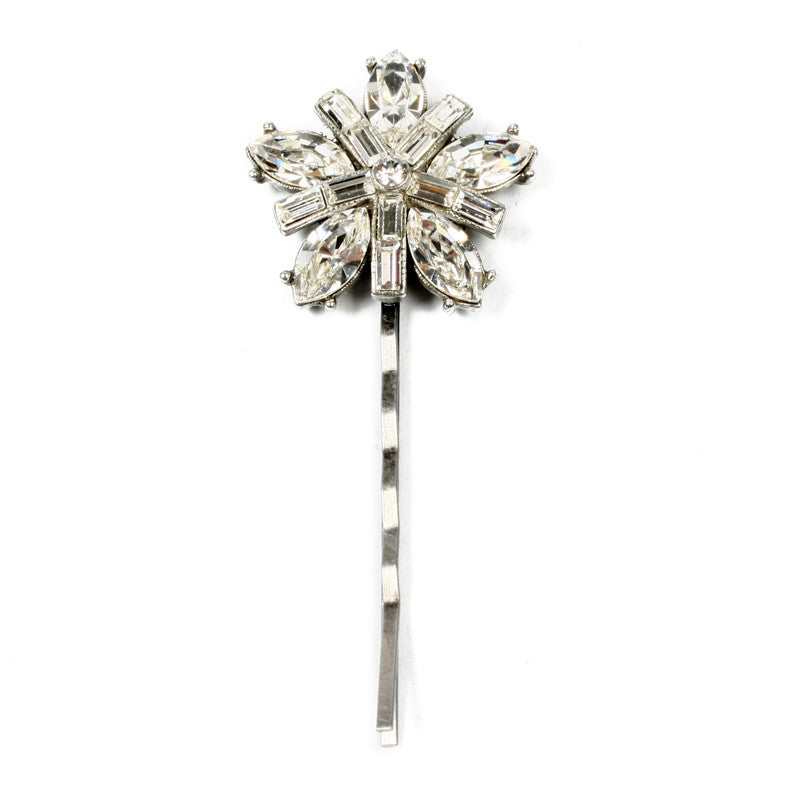 Crystal Flower Hair Pin - Ben-Amun