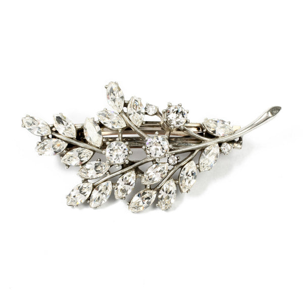 Crystal Leaf Hair Barrette - Ben-Amun