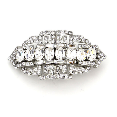 Crystal Oval Round Cut Hair Barrette - Ben-Amun
