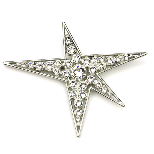 Rock Star Large Crystal Brooch - Ben-Amun