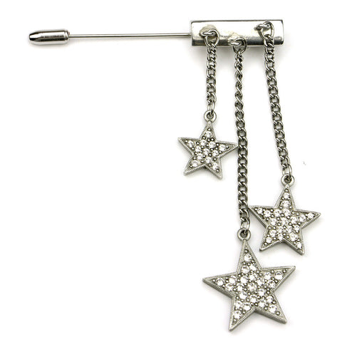 Rock Star Crystal Bar Pin