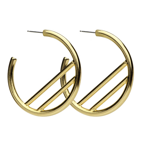 Gold Semi Precious Hoop Earrings | Ben-Amun