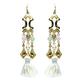 Spring Blush Chandelier Tassel Drop Earrings - Ben-Amun