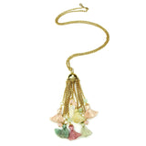 Spring Blush Carousel Tassel Necklace - Ben-Amun