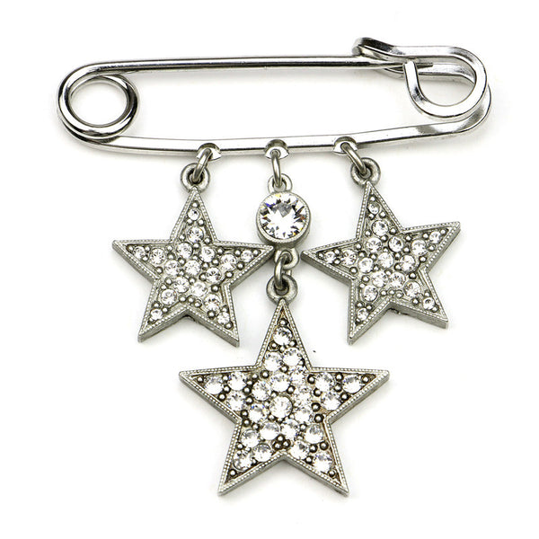 Rock Star Small Crystal Safety Pin - Ben-Amun