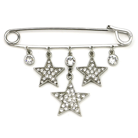 Rock Star Large Crystal Safety Pin