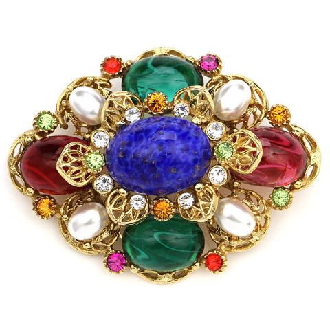 Ben-Amun Crystal Multi-Drop Brooch T41k72