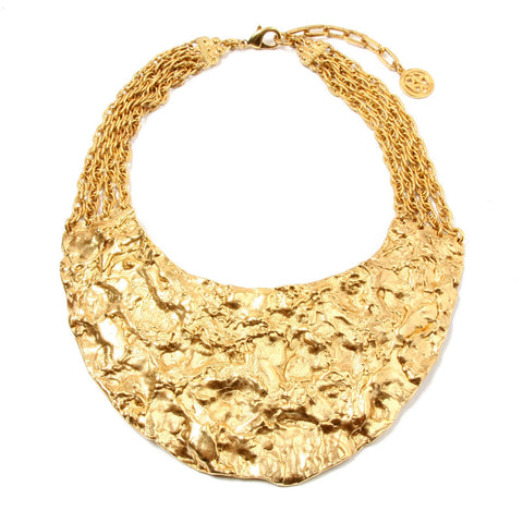 Foiled Gold Statement Bib Necklace - Ben-Amun