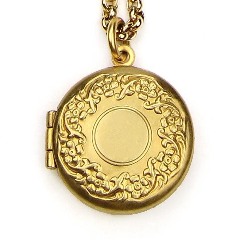 The Art of Layering Vintage Round Locket Necklace | Ben-Amun Jewelry | Unique Lockets | Antique Gold Locket | Ornate | Round Gold Locket | Golden Locket | Dainty Jewelry | Minimalist Jewelry | Boho Style Jewelry | Trend | 3 Layer Necklace Gold | Picture Locket Necklace | Ornate Pendant | Essential Accessory | Best Everyday Jewelry | Handmade in USA