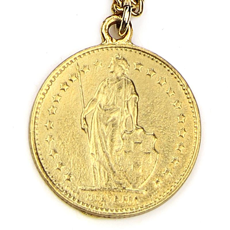The Art of Layering Vintage Helvetia Coin Necklace | Ben-Amun | Coin Jewelry | Ancient Coin Jewelry | Gold Coin Jewelry | Handmade Coin Jewelry | Liberty Coin Necklace | Female Empowerment Jewelry | Women's March Jewelry | Feminist Jewelry | 1 Franc | Switzerland Coin | Gold Layered Necklaces