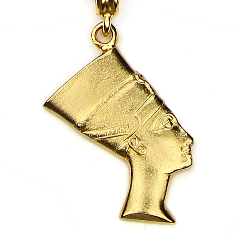 The Art of Layering Queen Nefertiti Necklace | Ben-Amun Jewelry | Queen Nefertiti Necklace | Egyptian Pendant | Egyptian Goddess | Queen Jewelry | Egyptian Symbol Jewelry | Nefertiti Pendant | Africa Necklace | Small Nefertiti Charm Jewelry Egyptian Jewelry Gold