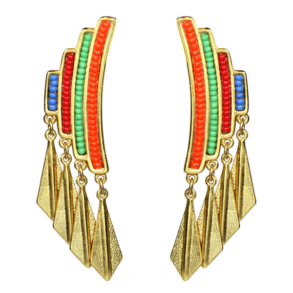 Ibiza Fan Earrings - Ben-Amun