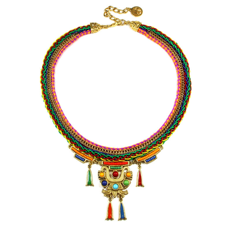 Ibiza Thin Necklace with Pendant - Ben-Amun