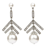 White Bubble Pearl Drop Earrings