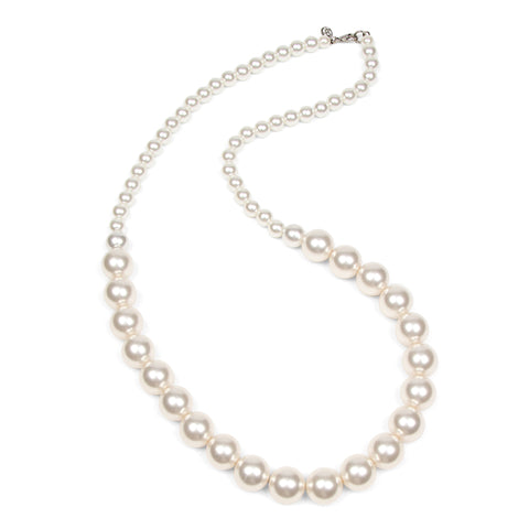 White Bubble Pearl Long Necklace
