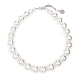 White Bubble Pearl Small Necklace