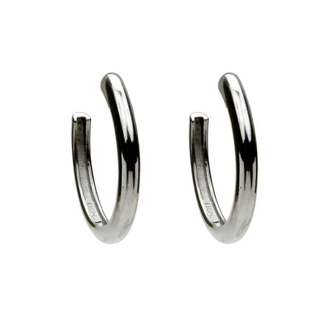 Natura Silver Open Hoop Earrings - Ben-Amun