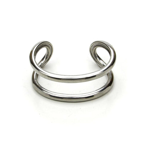 Natura Silver Open Bar Bangle - Ben-Amun
