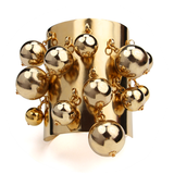 Jackie Gold Dangle Ball Cuff - Ben-Amun