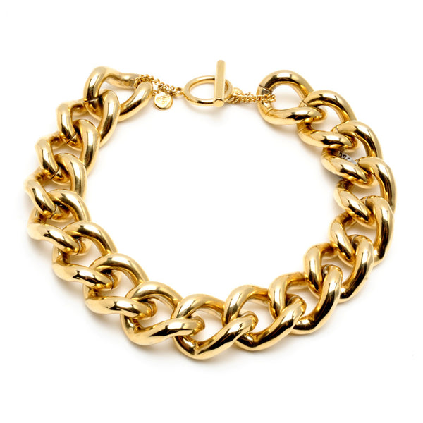 Gold Chain Link Necklace - Ben-Amun