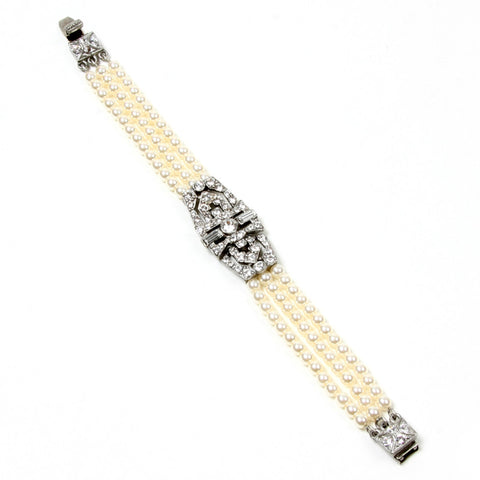 Deco Crystals With Water Pearls Bracelet - Ben-Amun
