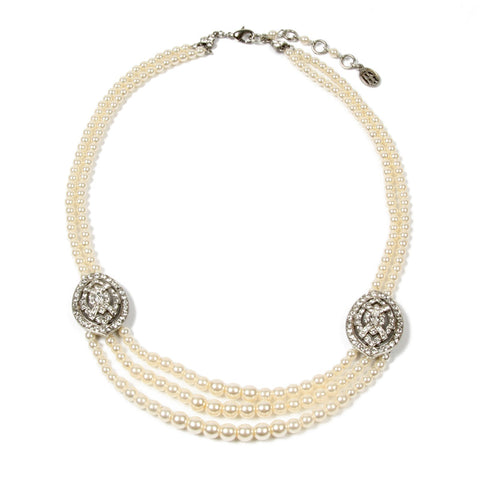 Double Take Crystal And Pearl Necklace - Ben-Amun
