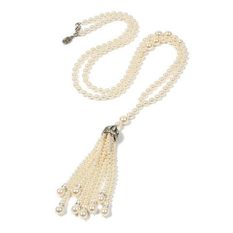 Belle Epoque Pearl Tassel Necklace - Ben-Amun