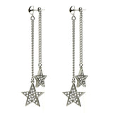Rock Star Crystal Dual Drop Post Earrings - Ben-Amun