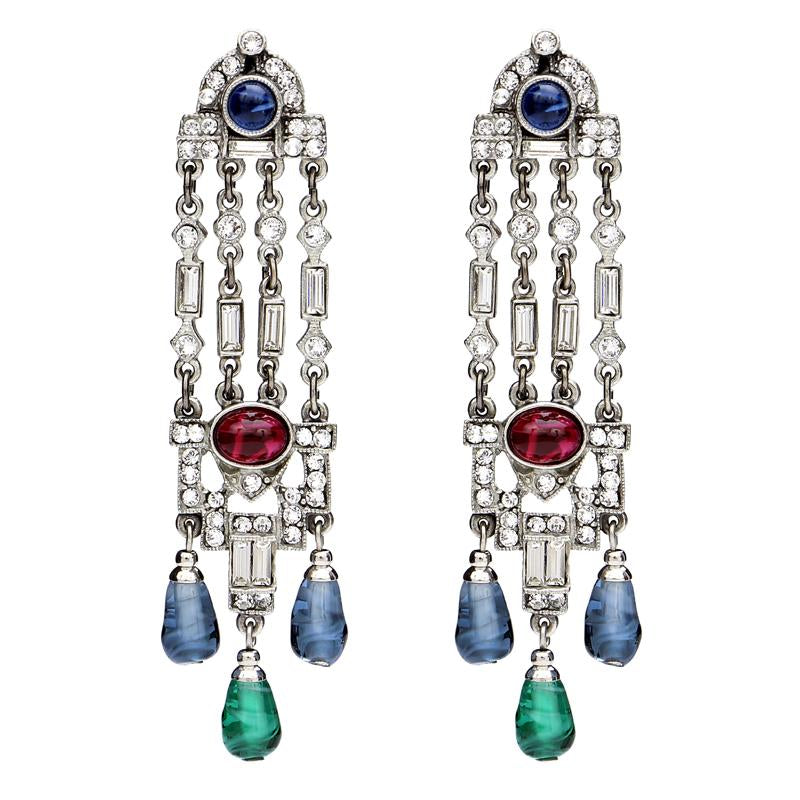 Velvet Glamour Tower Post Earrings | Ben-Amun